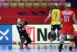 HERNING, DENMARK - DECEMBER 3, 2020: Jessica Ryde (16) of Sweden during the EHF Euro 2020 Group C match between Sweden and Czech Republic in Jyske Bank Boxen, Herning, Denmark on December 3 2020. Photo Credit: Allan Jensen/EVENTMEDIA.