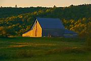 Barn at sunset, Near Hartland, New Brunswick, Canada