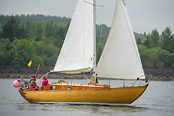 Day 2 Sailing, SCOTLAND<br /> <br />  Class 10, Malindi of Lorne, McGruer sloop, 105C<br /> <br /> The Scottish Series, hosted by the Clyde Cruising Club is an annual series of races for sailing yachts held each spring. Normally held in Loch Fyne the event moved to three Clyde locations due to current restrictions. <br /> <br /> Light winds did not deter the racing taking place at East Patch, Inverkip and off Largs over the bank holiday weekend 28-30 May. <br /> <br /> Image Credit : Marc Turner / CCC