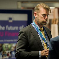 """Brussels, Belgium - 25 September 2017 <br /> """"The Future of Finances"""" conference.<br /> Photo: European Commission / Ezequiel Scagnetti"""