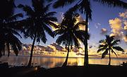 Sunset, Aitutaki, Cook Islands<br />