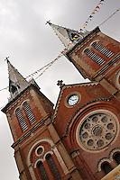 Belltower of the Notre Dame Basilica in Saigon.