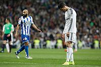 Real Madrid´s Cristiano Ronaldo regrets his performance during La Liga match at Santiago Bernabeu stadium in Madrid, Spain. February 14, 2015. (ALTERPHOTOS/Victor Blanco)