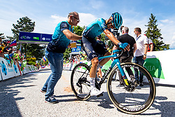 Matteo SOBRERO of ASTANA - PREMIER TECH in the finish during the 4th Stage of 27th Tour of Slovenia 2021 cycling race between Ajdovscina and Nova Gorica (164,1 km), on June 12, 2021 in Slovenia. Photo by Matic Klansek Velej / Sportida