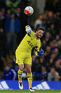 goalkeeper Hugo LLoris of Tottenham Hotspur in action.Barclays Premier league match, Chelsea v Tottenham Hotspur at Stamford Bridge in London on Monday 2nd May 2016.<br /> pic by Andrew Orchard, Andrew Orchard sports photography.