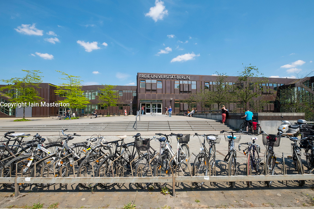 Student buildings on campus at Free University of Berlin in Dahlem ,Berlin Germany