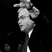 """Samuel """"Sandy"""" Berger, Former Assistant to the President for National Security Affairs, testifying before the 9/11 Commission's Public Hearing Number 8 on Wednesday, 24 March 2004."""