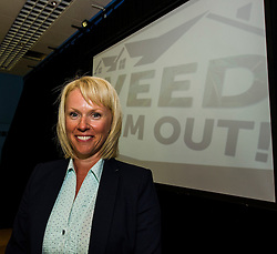 Pictured: Detective Chief Inspector Laura McLuckie<br /> <br /> Falkirk Town Hall hosted an event today aimed at raising awareness of cannabis cultivations across Forth Valley. The Weed Them Out campaign was launched by senior police officers including Detective Chief Inspector Laura McLuckie. <br /> <br /> Ger Harley | EEm 31 May  2016