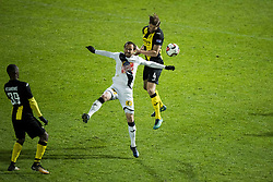 November 25, 2017 - Roeselare, BELGIUM - Roeselare's Guy Dufour and Lierse's Frederic Frans fight for the ball during a soccer game between Roeselare and Lierse SK, in Roeselare, Saturday 25 November 2017, on day 17 of the division 1B Proximus League competition of the Belgian soccer championship. BELGA PHOTO JASPER JACOBS (Credit Image: © Jasper Jacobs/Belga via ZUMA Press)