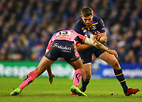 Rugby Union - 2017 / 2018 European Rugby Champions Cup - Pool Three: Leinster vs. Exeter Chiefs<br /> <br /> Leinster's Ross Byrne in action against Exeter's Henry Slade, at Aviva Stadium, Dublin.<br /> <br /> COLORSPORT/KEN SUTTON