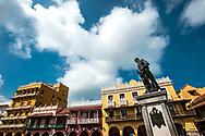 Monument to Diego de Almeida, founder of the city, in Piazza de los coches