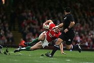 Jamie Roberts of Wales loses his footing. Invesco Perpetual series 2008 autumn international match, Wales v New Zealand at the Millennium Stadium on Sat 22nd Nov 2008. pic by Andrew Orchard, Andrew Orchard sports photography,