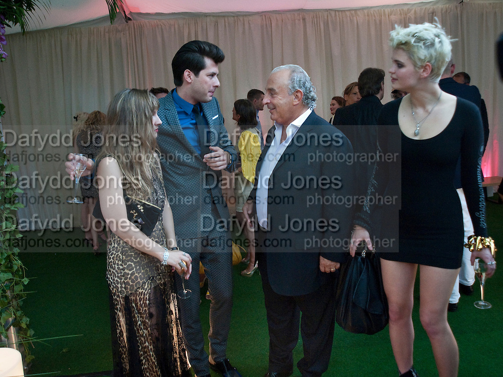 Josephine de la Baume, ; Mark Ronson; Philip Green; Pixie Geldof. Glamour magazine Women of the Year Awards. Berkeley Square. London. 2 June 2009