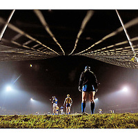 """26 January 2010; Tuesday Night Lights. Clare goalkeeper Philip Brennan keeps an eye on the action during his side's win over Tipperary at Borris-Ileigh. Picture credit: Diarmuid Greene / SPORTSFILE<br /> <br /> <br /> <br /> This image may be reproduced free of charge when used in conjunction with a review of the book """"A Season of Sundays 2010"""". All other usage © SPORTSFILE"""