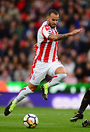 Jese of Stoke city in action. Premier league match, Stoke City v Arsenal at the Bet365 Stadium in Stoke on Trent, Staffs on Saturday 19th August 2017.<br /> pic by Bradley Collyer, Andrew Orchard sports photography.