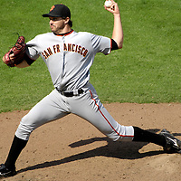 02 September 2007:  San Francisco Giants pitcher Barry Zito (75) pitches in the 7th inning against the Washington Nationals.  Zito gave up 2 hits and one earned run in 7 innings of work.  He did not figure in the decision as the Nationals defeated the Giants 2-1 at RFK Stadium in Washington, D.C.