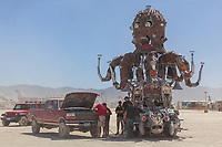 I'm not sure who is boosting who here but kinda fun regardless. How often do you boost or get boosted from a vehicle like this?! My Burning Man 2019 Photos:<br />