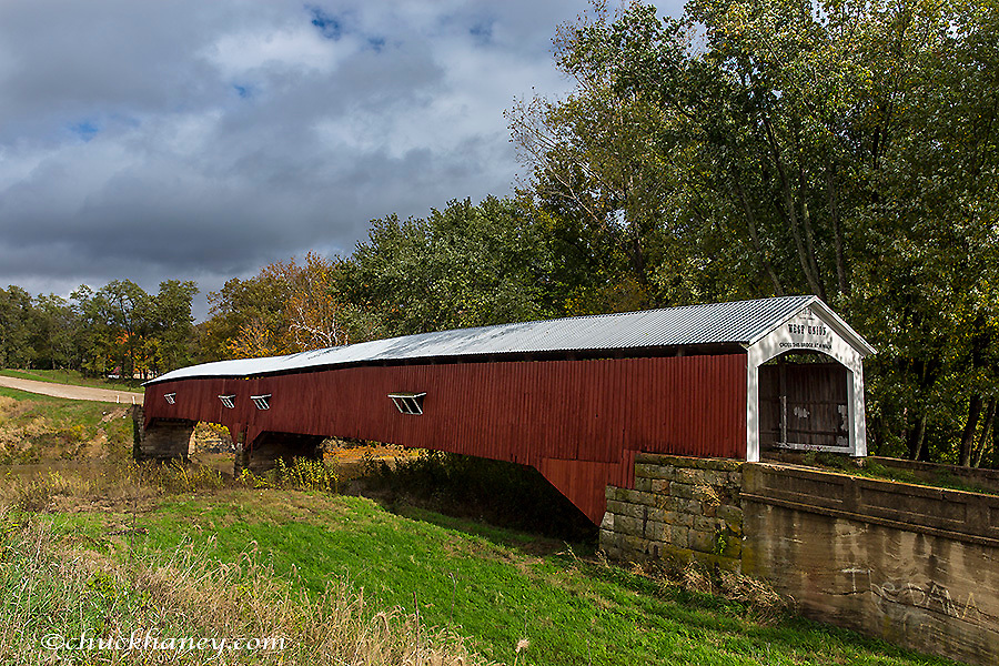 West Union Covered Bridge over Sugar Creek in Parke County, Indiana, USA