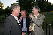 Stephen Schama, Martin Amis and Ian McEwen, Launch of Tina Brown's book 'The Diana Chronicles' hosted by Reuters. Serpentine Gallery. 18 June 2007.  -DO NOT ARCHIVE-© Copyright Photograph by Dafydd Jones. 248 Clapham Rd. London SW9 0PZ. Tel 0207 820 0771. www.dafjones.com.