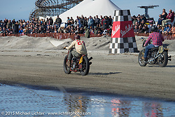 Go Takamine on his Indian Chief at the Race of Gentlemen. Wildwood, NJ, USA. October 10, 2015.  Photography ©2015 Michael Lichter.