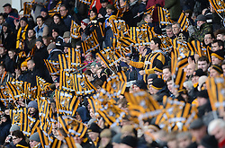 Hull City fans show their support - Photo mandatory by-line: Richard Martin-Roberts/JMP - Mobile: 07966 386802 - 31/01/2015 - SPORT - Football - Hull - KC Stadium - Hull City v Newcastle United - Barclays Premier League
