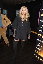 RITA ORA at the Al Films and Warner Music Screening of Kill Your Friends held at the Curzon Soho Cinema, 99 Shaftesbury Avenue, London on 27th October 2015.