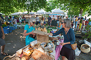 Outdoor Market in New Denver, Slocan Valley, West Kootenay, British Columbia, Canada