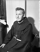 1953 - Rev. Fr. Berchmans O'Byrne  O.F.M. receiving the Missionary Cross at Merchant's Quay, Dub