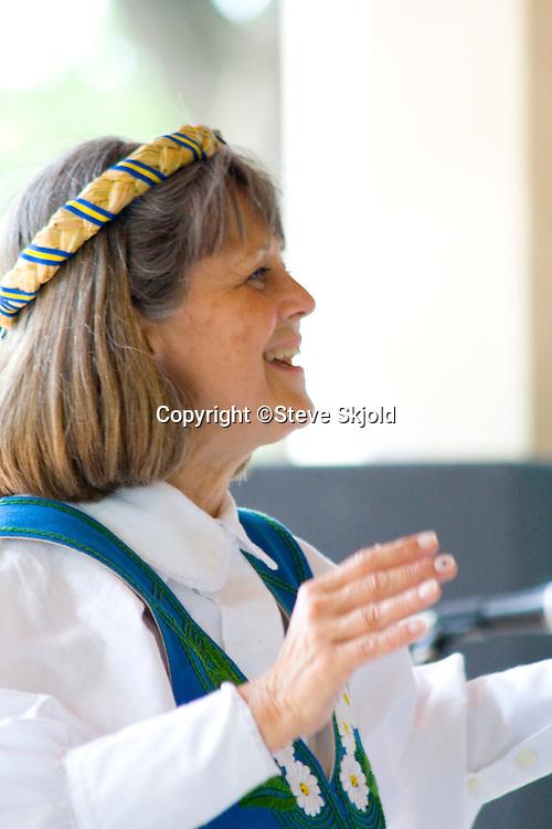 Diane Noble Director Svenskarnas Dag Girls Choir. Svenskarnas Dag Swedish Heritage Day Minnehaha Park Minneapolis Minnesota USA
