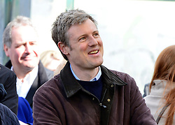 © Licensed to London News Pictures. 27/04/2013. London, UK Zac Goldsmith. A rally against Heathrow expansion takes place today 27th April on Barn Elms Playing Field in Barns, West London.  The rally organised by MP Zac Goldsmith included Mayor of London, Boris Johnson, Cabinet Minister Justine Greening, and many other MPs, MEPs, Council Leaders, and campaigners as speakers. Photo credit : Stephen Simpson/LNP