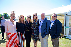 LIVERPOOL, ENGLAND - Friday, June 22, 2018: Corporate guests outside the hospitality tent during day two of the Williams BMW Liverpool International Tennis Tournament 2018 at Aigburth Cricket Club. (Pic by Paul Greenwood/Propaganda)