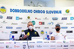 Goran Makar and Dami Zupi at press conference of charity event Dobrodelnost okoli Slovenije, on April 20, 2021 in Galerija Druzina, Ljubljana, Slovenia. Photo by Matic Klansek Velej / Sportida
