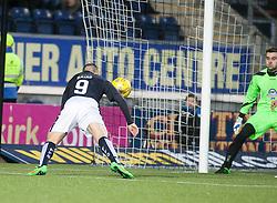 Falkirk's John Baird heads back  <br /> Falkirk 4 v 1 Fraserburgh, Scottish Cup third round, played 28/11/2015 at The Falkirk Stadium.