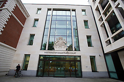 © London News Pictures. 26/09/2013 . London, UK. Westminster Magistrates Court in London where the the full extradition hearing of Vladimir Antonov and Raimondas Baranauskas is due to start. Vladimir Antonov and Raimondas Baranauskas are accused of asset stripping hundreds of millions of pounds from Snoras Bank. Photo credit : Ben Cawthra/LNP