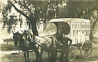 1910 Hollywood Ice Co. horse & wagon