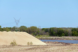Sand and gravel pit operation