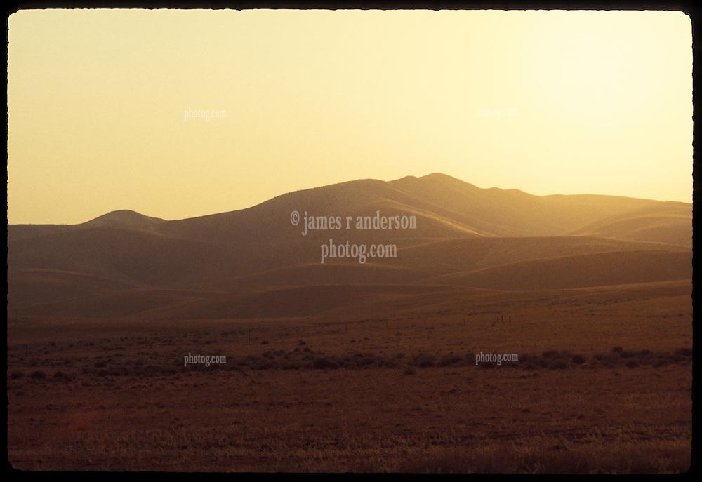 Sunrise on the Mohave Desert along old U.S. Route 91