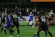 AFC Wimbledon defender & captain Barry Fuller (2) during the The Emirates FA Cup 1st Round Replay match between AFC Wimbledon and Bury at the Cherry Red Records Stadium, Kingston, England on 15 November 2016. Photo by Stuart Butcher.