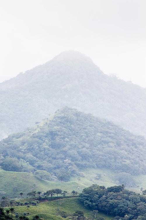 View toward coast near Monteverde Cloud Forest Preserve, Costa Rica.