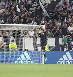 April 22, 2018 - Torino, Piemonte, Italy - in the picture:Buffon Juventus.22 April 2018 - Turin, Italy - final match between F.C. Juneventu and SSC Napoli, at the Allianz Stadium in Turin, which is awarded the Scudetto in Serie A in Italy..Napoli wins 1-0. (Credit Image: © Fabio Sasso/Pacific Press via ZUMA Wire)