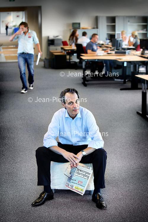 Nederland, Amsterdam , 20 augustus 2010..Michiel Bicker Caarten..Op 28 april 2010 werd bekend dat hij hoofdredacteur wordt van de nieuwe publieke omroep Wakker Nederland. .Foto:Jean-Pierre Jans