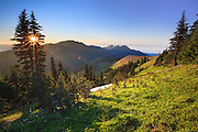Sunset at Hurricane Ridge, Olympic National Park