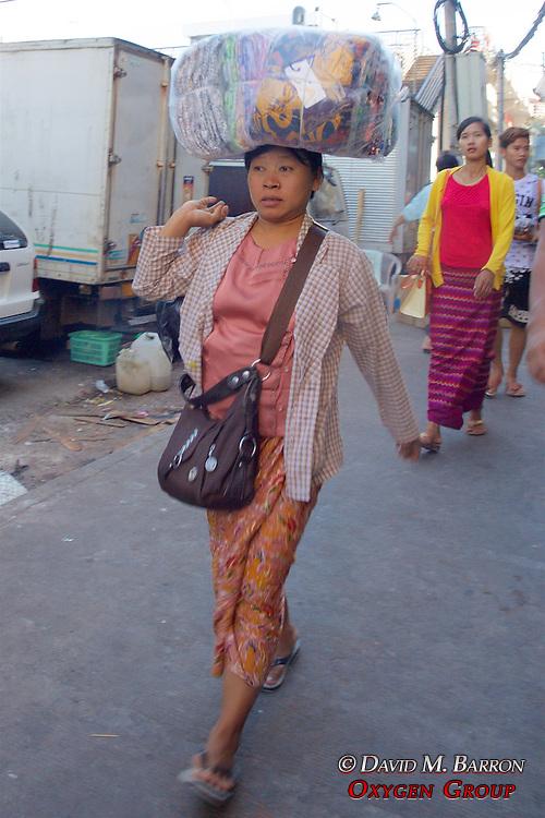 Carrying Item On Head Near Gyee Zai Market