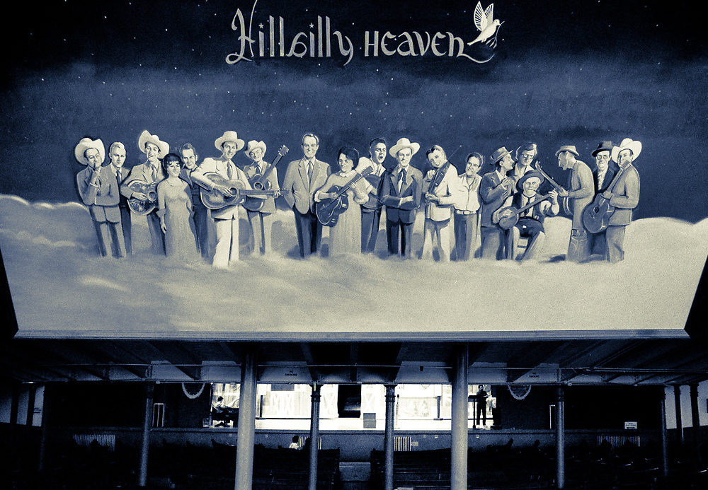 Hillbilly Heaven painting at Ryman Auditorium in Memphis, Tennessee (1988)
