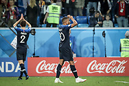 Kylian Mbappe of France celebrates after winning the 2018 FIFA World Cup Russia, Semi Final football match between France and Belgium on July 10, 2018 at Saint Petersburg Stadium in Saint Petersburg, Russia - Photo Thiago Bernardes / FramePhoto / ProSportsImages / DPPI
