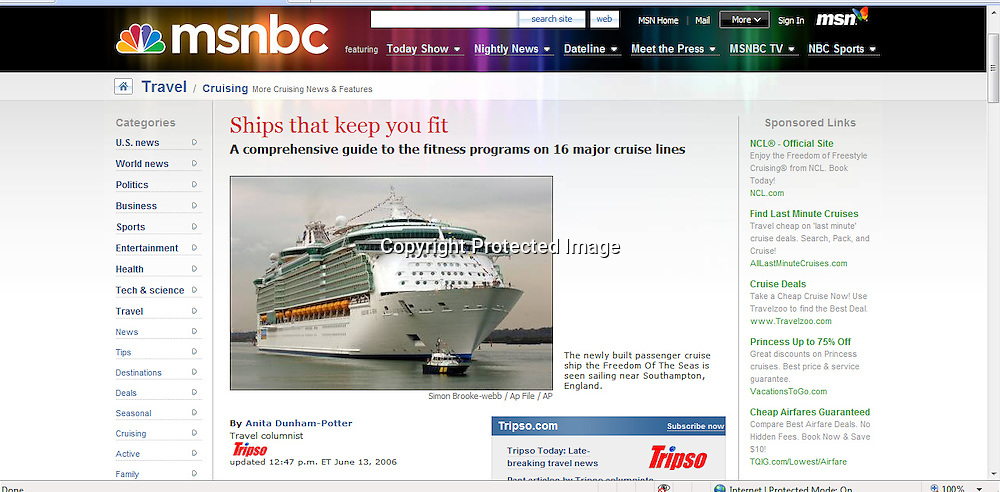 Freedom of the Seas. MSNBC..13-06-2006