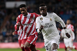 January 24, 2019 - Madrid, Spain - Real Madrid's Vinicius Jr. and Girona FC's Antony Lozano during Copa del Rey match between Real Madrid and Girona FC at Santiago Bernabeu Stadium. (Credit Image: © Legan P. Mace/SOPA Images via ZUMA Wire)