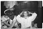 LEFT; SHEERA REES-DAVIES, JIM VINEY, Late  night party at the Oxford Union. 30 April 1983 until May morning.