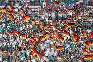 Fans of Germany before the 2018 FIFA World Cup Russia, Group F football match between Germany and Mexico on June 17, 2018 at Luzhniki Stadium in Moscow, Russia - Photo Thiago Bernardes / FramePhoto / DPPI