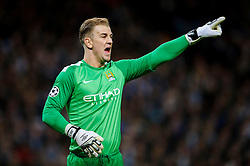 Man City Goalkeeper Joe Hart (ENG) shouts and points - Photo mandatory by-line: Rogan Thomson/JMP - Tel: 07966 386802 - 18/02/2014 - SPORT - FOOTBALL - Etihad Stadium, Manchester - Manchester City v Barcelona - UEFA Champions League, Round of 16, First leg.